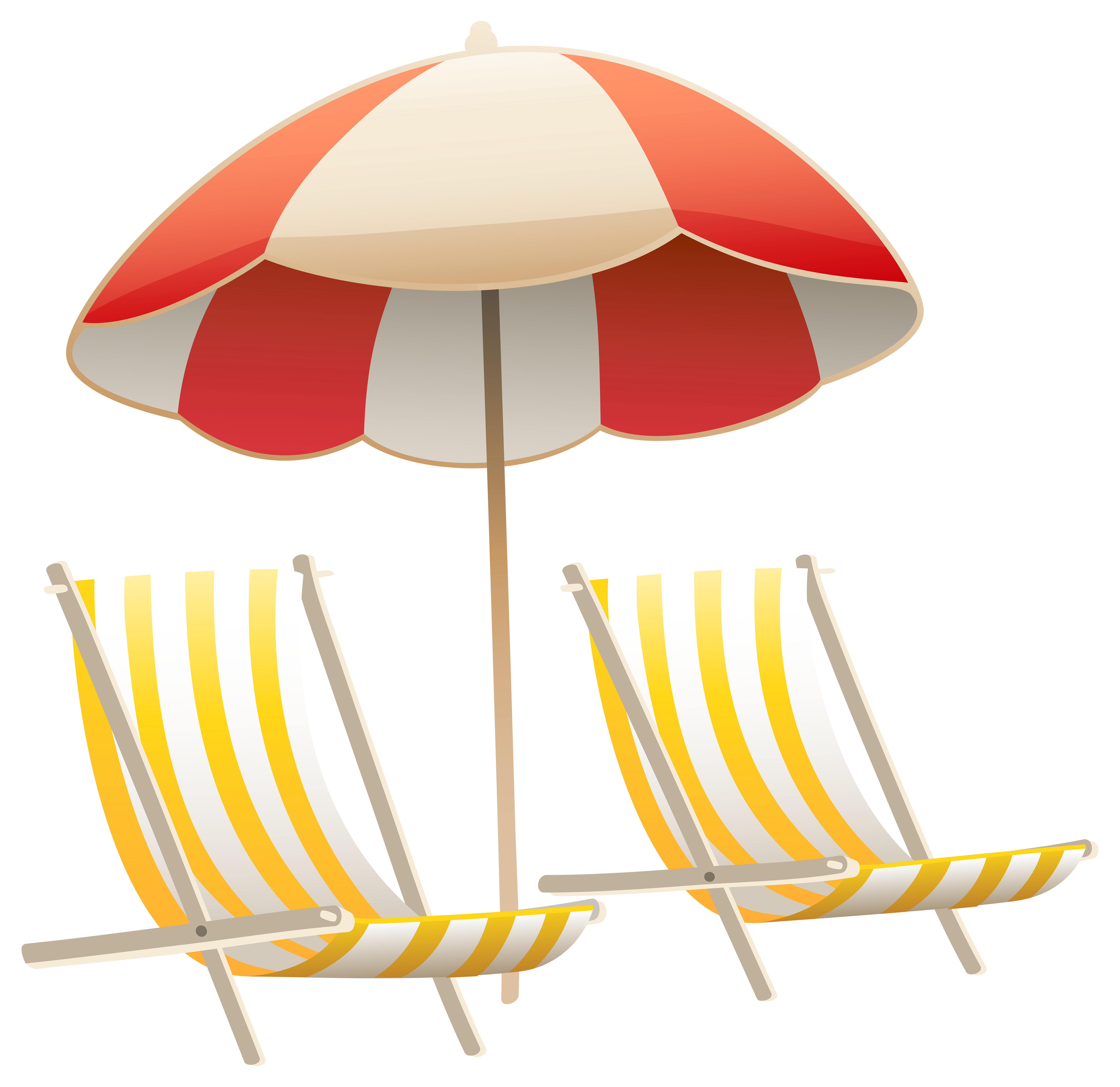 Sun umbrella clipart transparent library Beach Umbrella and Chairs PNG Clipart Image | Gallery Yopriceville ... transparent library
