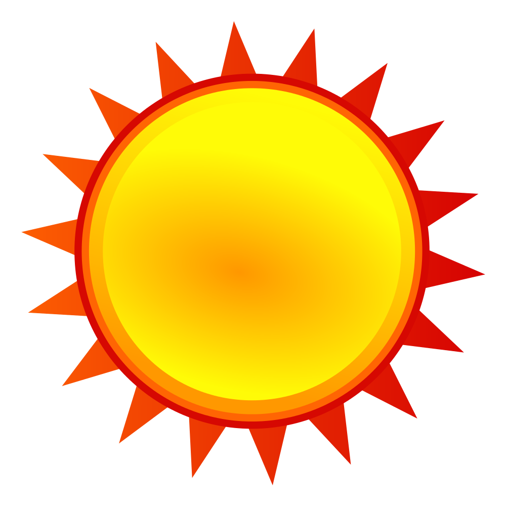 Sun weather clipart svg free File:Nuvola weather sunny.svg - Wikimedia Commons svg free