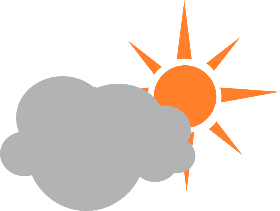 Sun weather symbol clipart black and white banner transparent Weather Symbols Sun With Clouds#4130018 - Shop of Clipart Library banner transparent
