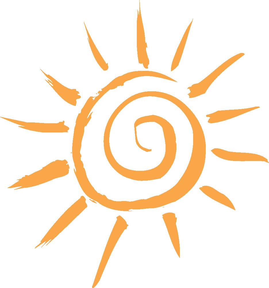 Sun with breezes clipart clip art stock OnlineLabels Clip Art - Simple Sun Motif clip art stock