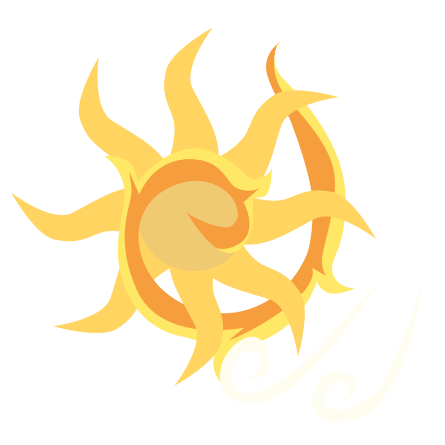 Sun with breezes clipart clipart black and white stock Summer Breeze's Cutie Mark by ForeshadowART on DeviantArt clipart black and white stock
