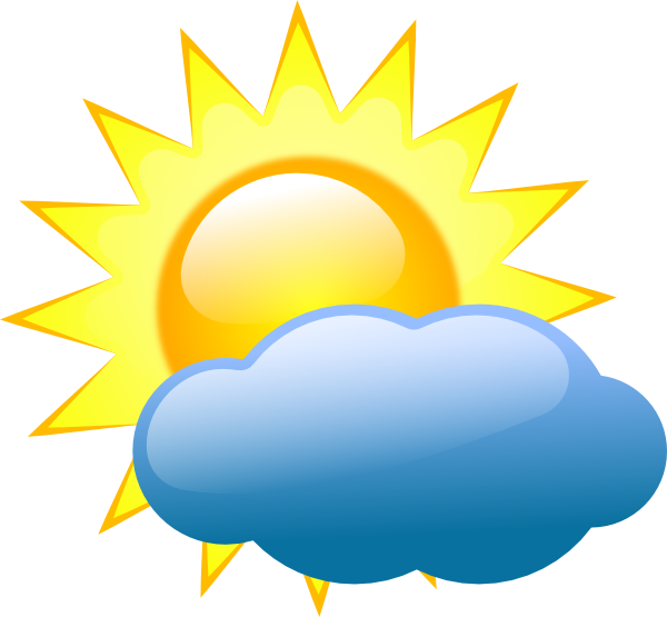 Sun with clouds infront clipart banner royalty free download Furqn Bhai: Weather banner royalty free download