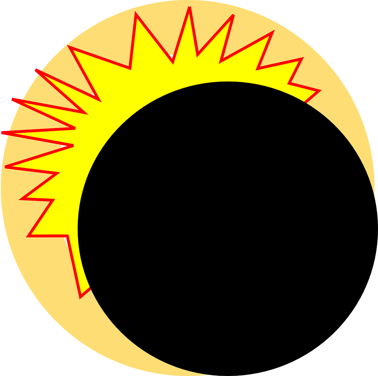 Sun with eclipse glasses clipart png black and white library Clip Art Eclipse Solar - Alternative Clipart Design • png black and white library