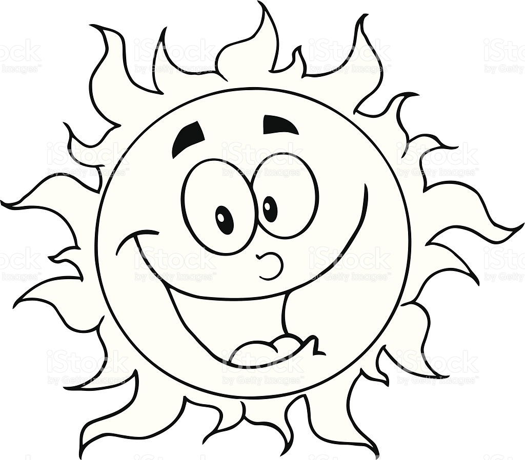 Sun with face clipart black and white cute image royalty free download Cute Sun Clipart Black And White - Free Clipart image royalty free download