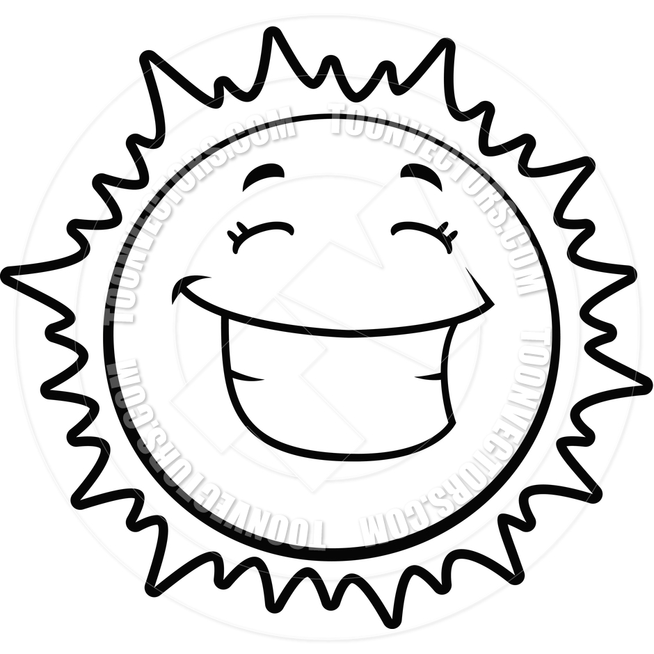 Sun with face clipart black and white cute clipart freeuse download Free Sun Clipart Black and White Pictures - Clipartix clipart freeuse download