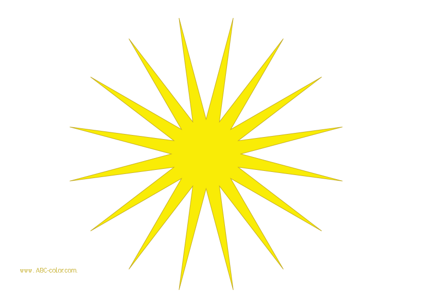 Sun with pointed rays clipart clip free library Raster clipart sun. Sixteen long pointed rays. clip free library