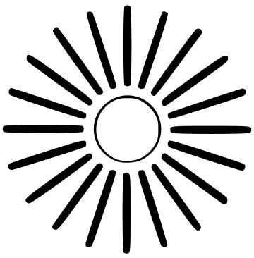 Sun with rays clipart black and white svg free library Sun Rays Clipart   Free download best Sun Rays Clipart on ... svg free library