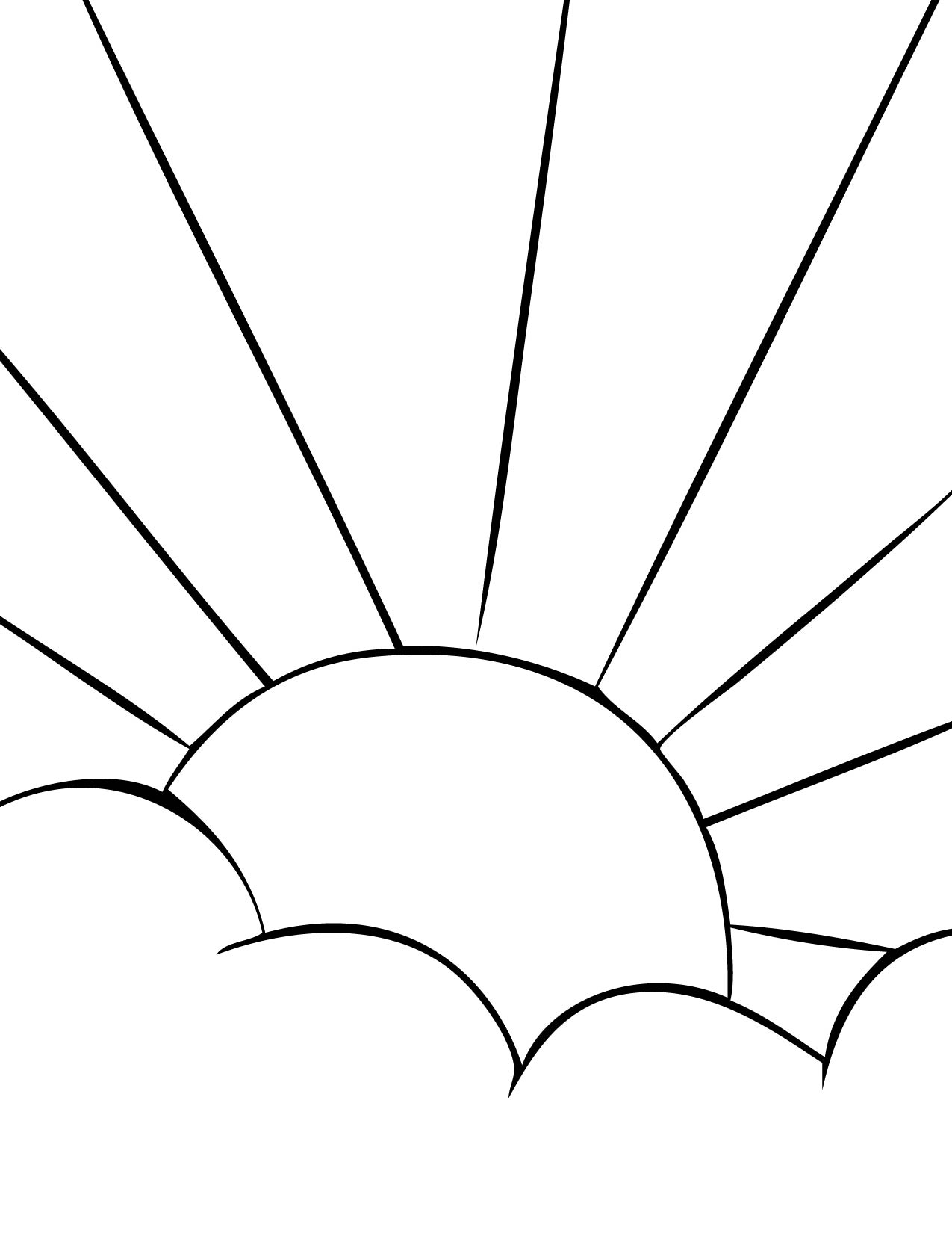 Sun with rays clipart black and white clip Free Sun Rays Clipart Black And White, Download Free Clip ... clip