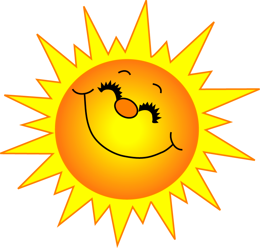 Happy face sun clipart