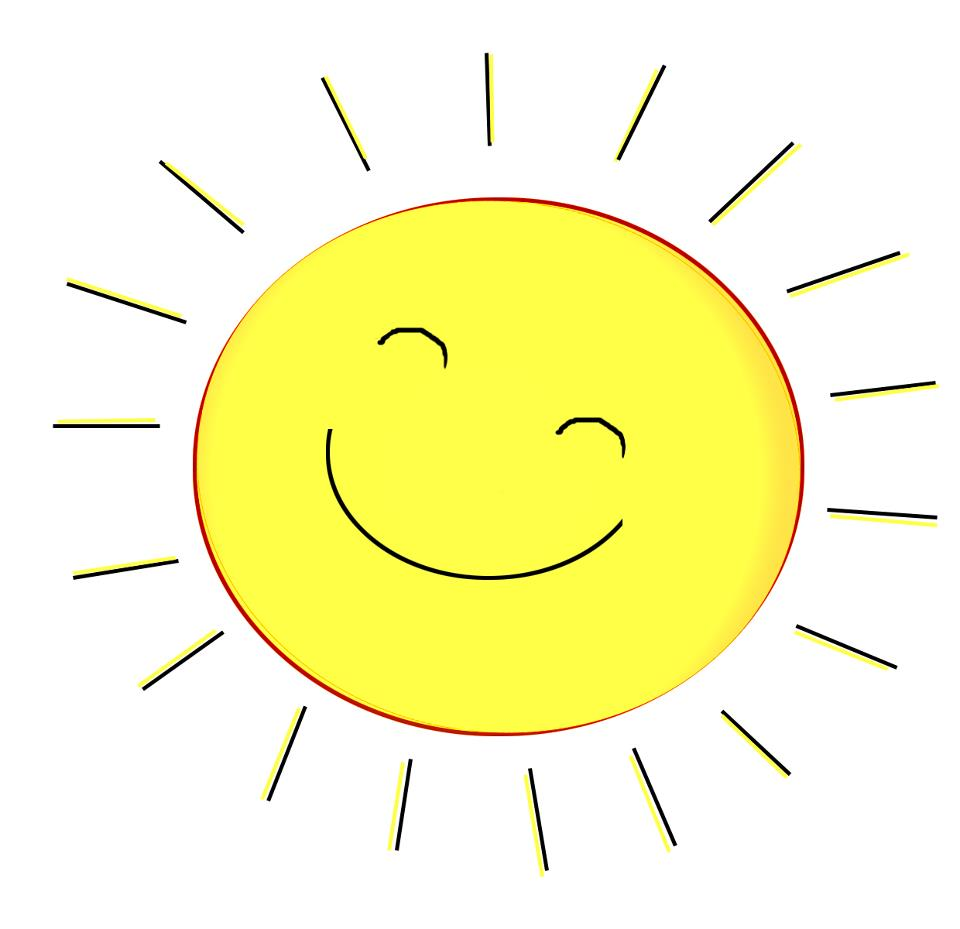 Sun with smiley face clipart banner free stock Smiling Sun Face | Free download best Smiling Sun Face on ... banner free stock