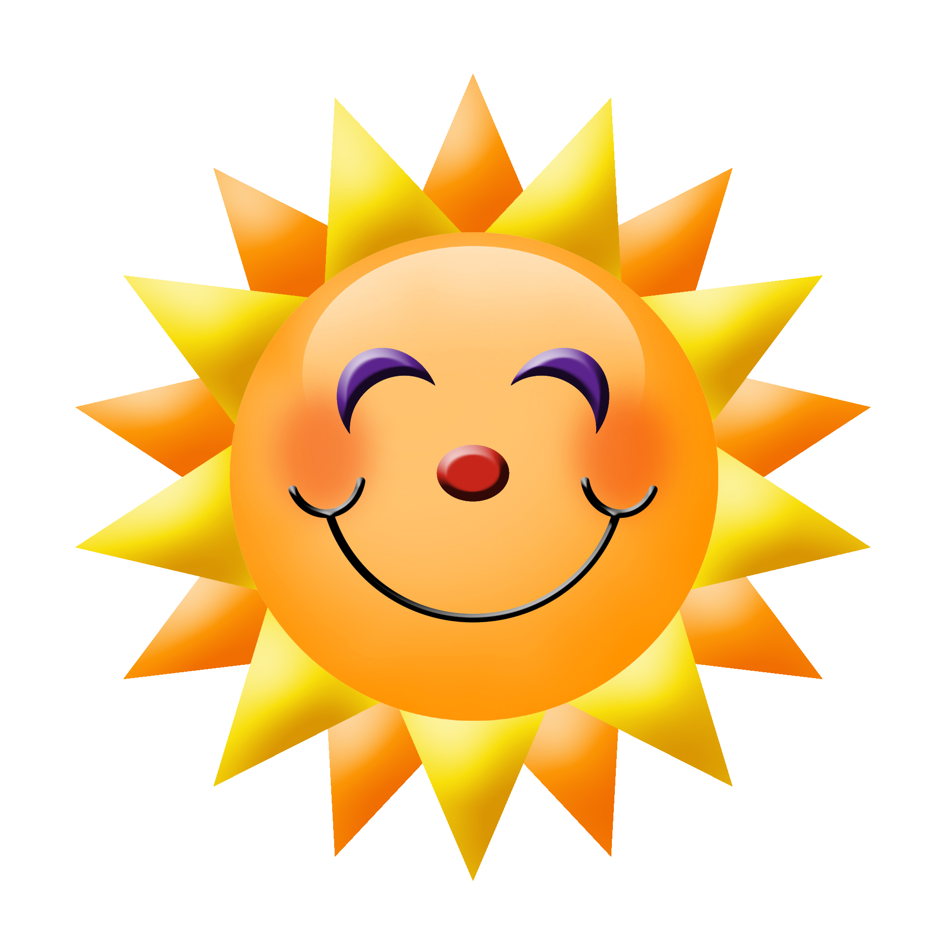 Sun with smiley face clipart banner Sun With A Smiley Face - Free Clipart banner