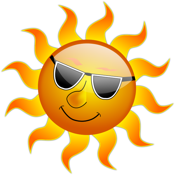 Sun with sunglasses and muscles clipart freeuse Tips for Preventing Heat Illness This Summer - Swope Health Services freeuse