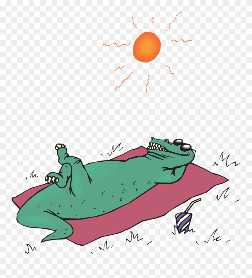 Sunbathing clipart png black and white Springtime Leading Into Summertime And The Warmer Weather ... png black and white