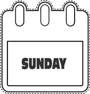 Sunday clipart clip transparent library Free Sunday Calendar Cliparts, Download Free Clip Art, Free ... clip transparent library