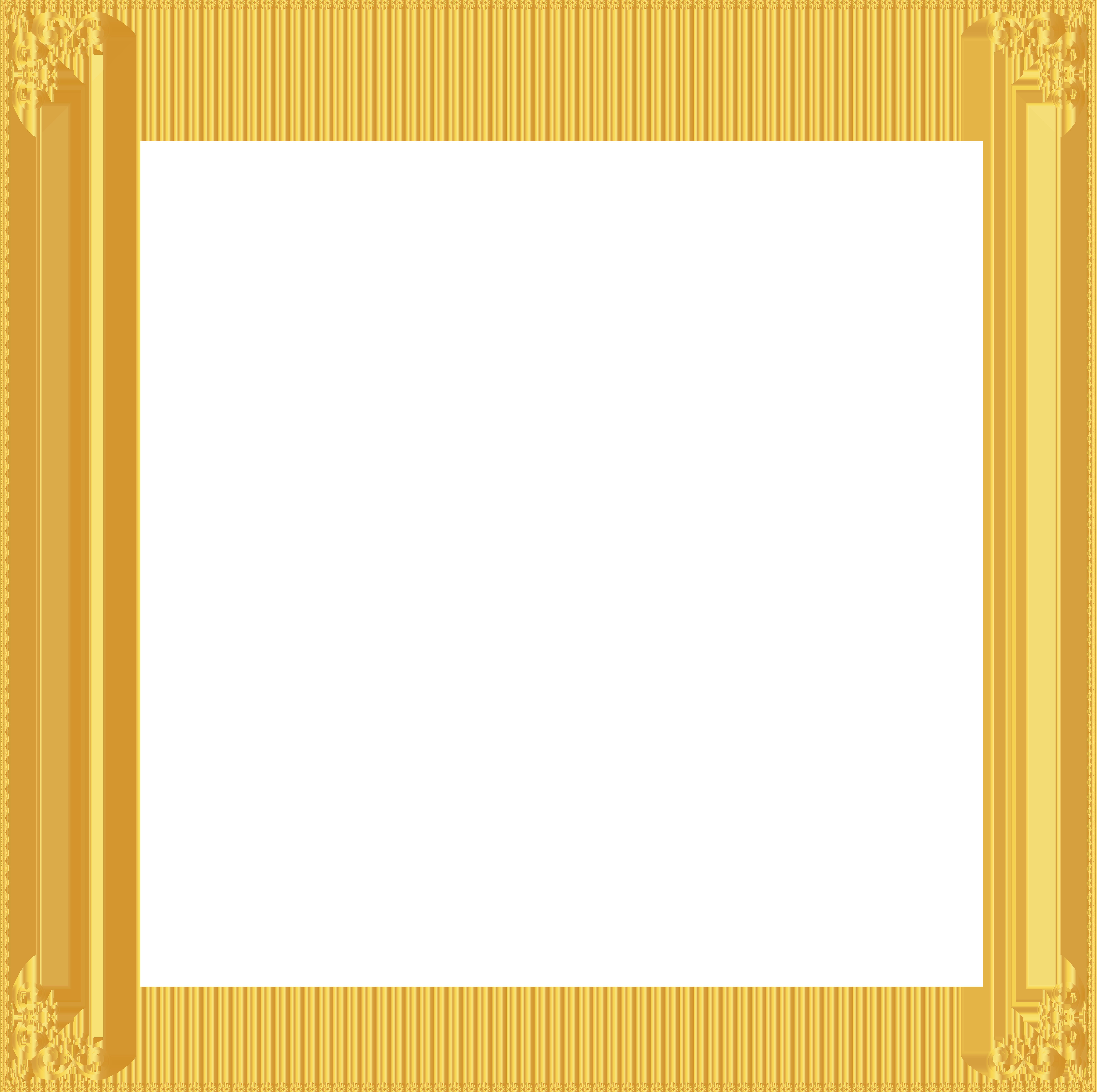 Sunday school border clipart jpg royalty free library Golden Border Frame Transparent Clip Art Image   Gallery ... jpg royalty free library