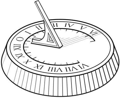 Sundial clipart black and white clip free stock Sundial Drawing at PaintingValley.com | Explore collection ... clip free stock