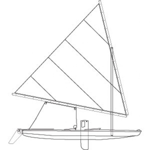 Sunfish sailboat clipart