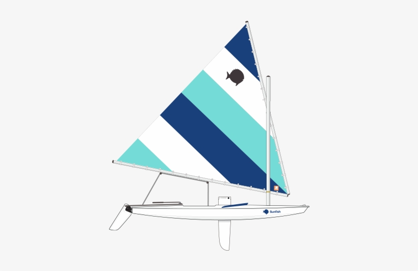 Sunfish sailboat clipart jpg free library Blue Lagoon Sunfish Sail - Sunfish Sail - Free Transparent ... jpg free library