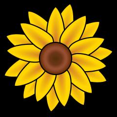 Sunrflower clipart jpg library stock Free Sunflowers Cliparts, Download Free Clip Art, Free Clip ... jpg library stock