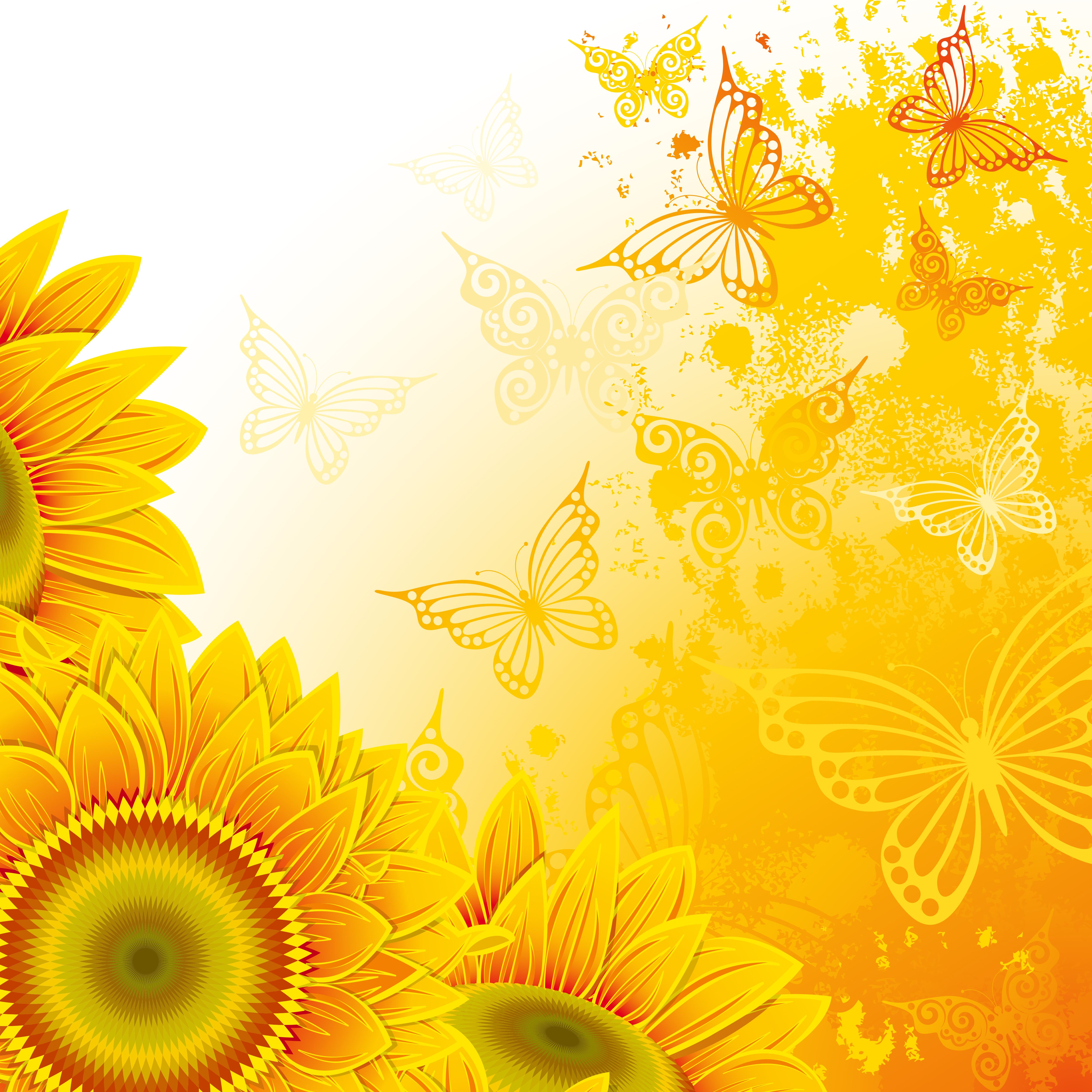 Sunflower background clipart jpg library 0_13afb1_a26a1bf5_orig (5000×5000) | Flower fairies ... jpg library