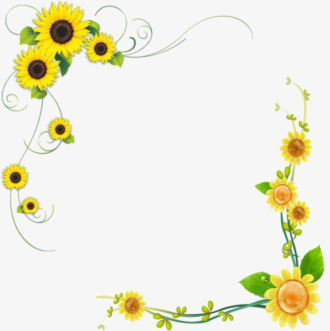 Sunflower cake clipart clip art transparent Sunflower, Sunflower Clipart, Decorative Borders, Flowers ... clip art transparent