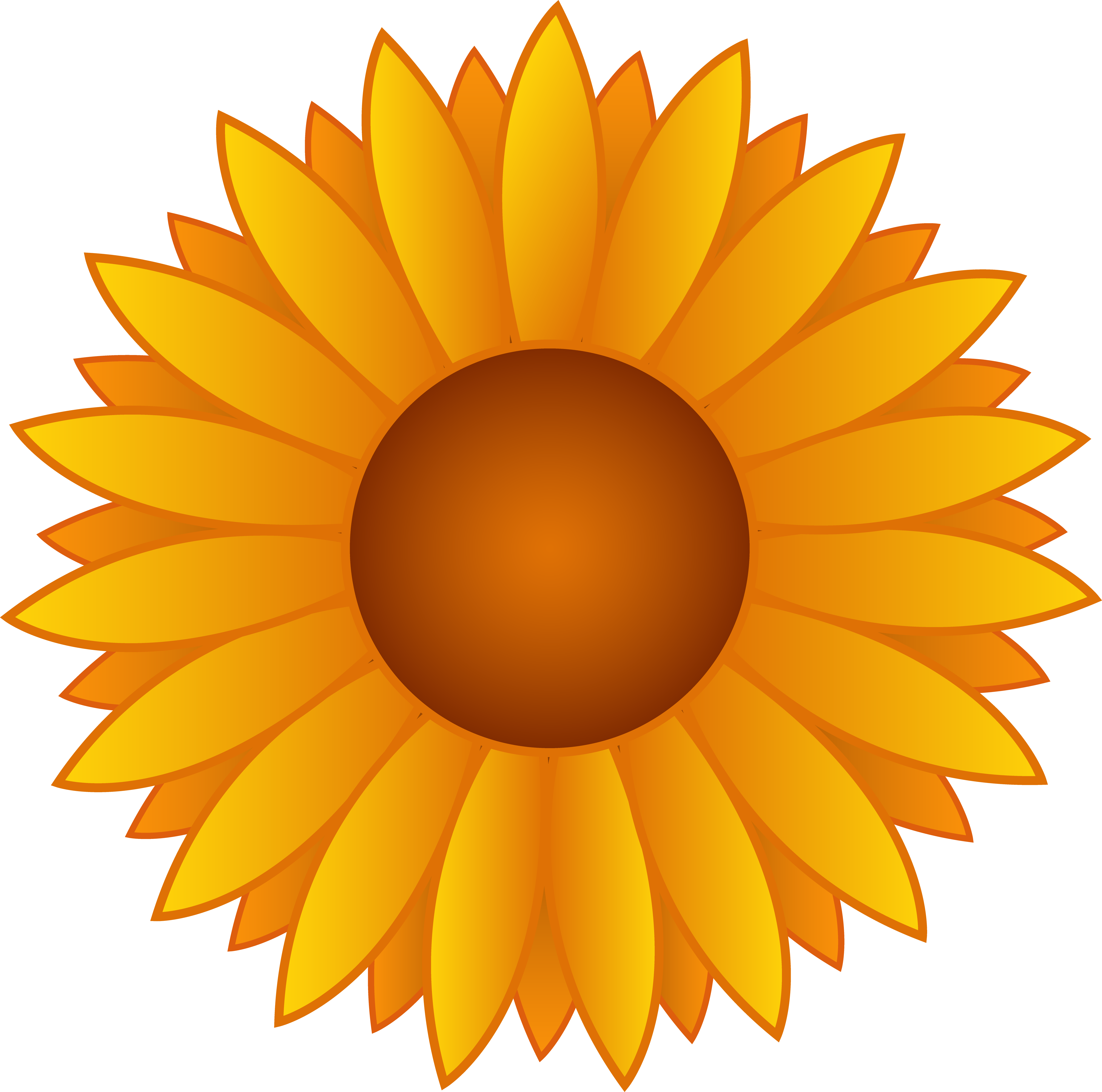 Sunflower clipart vector banner free Yellow Sunflower Vector Art - Free Clip Art banner free