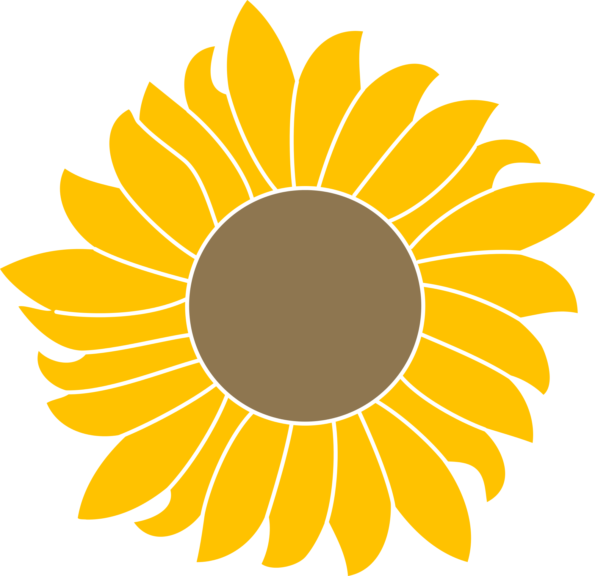 Sunflower clipart vector svg black and white stock Common sunflower Scalable Vector Graphics Portable Network ... svg black and white stock
