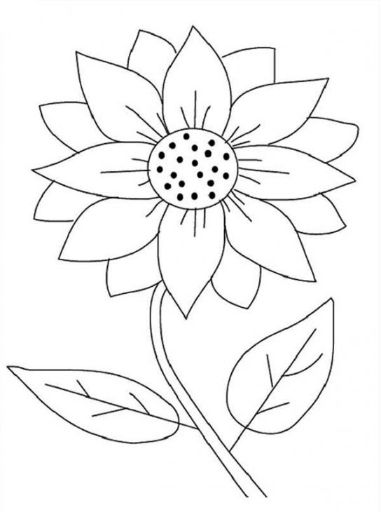 Sunflower coloring clipart vector royalty free stock Printable Sunflower Coloring Page   Fun Coloring Pages ... vector royalty free stock