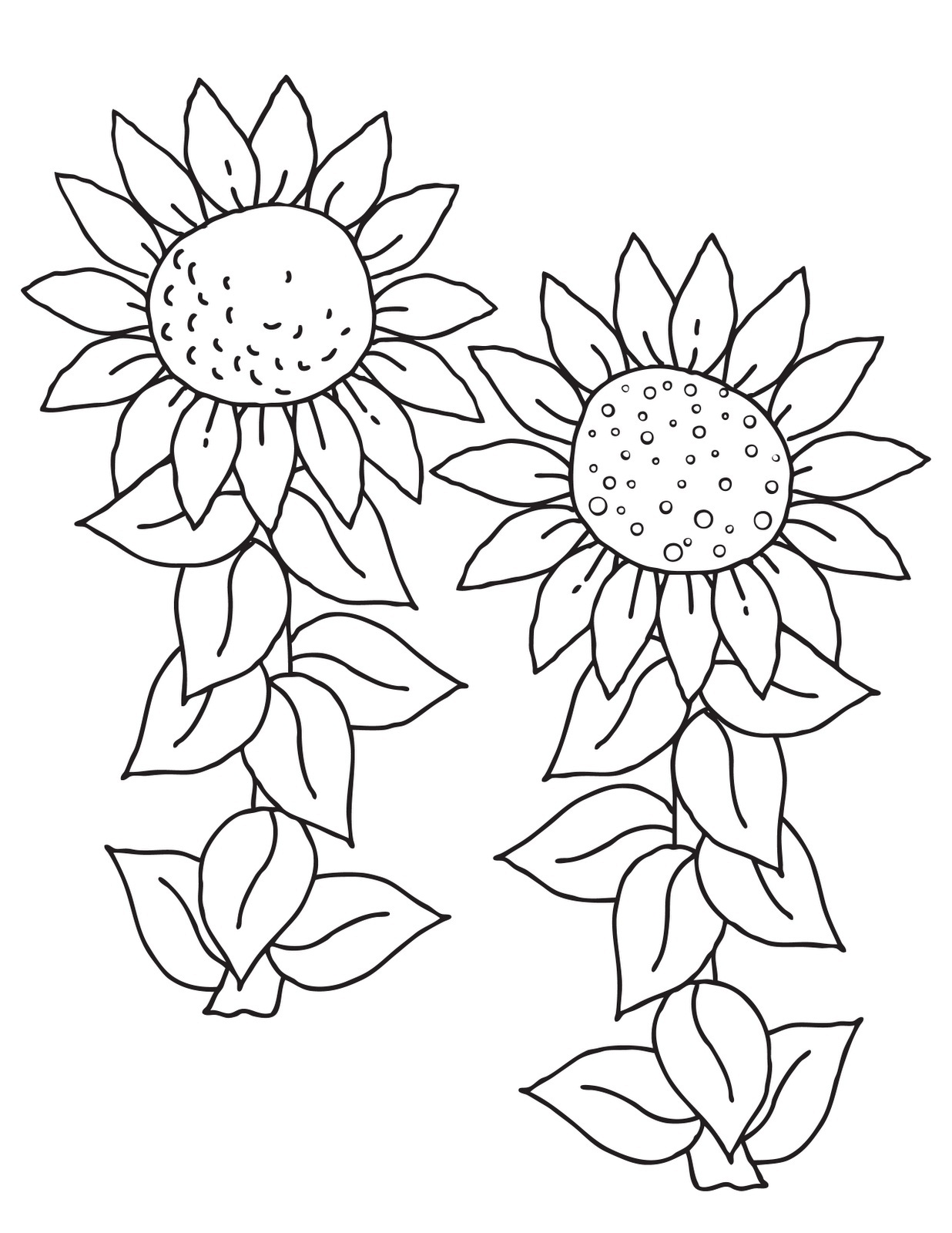Sunflower coloring clipart clipart library library Free Sunflower Color Sheets, Download Free Clip Art, Free ... clipart library library