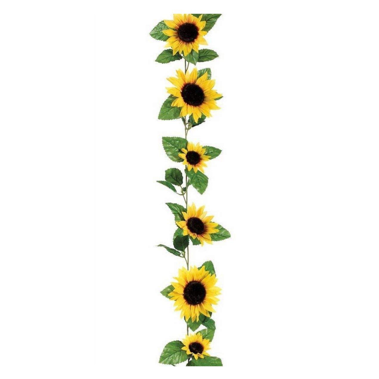 Sunflower garland clipart picture library download Zeagro Artificial Silk Sunflower Garland Hanging Flower ... picture library download