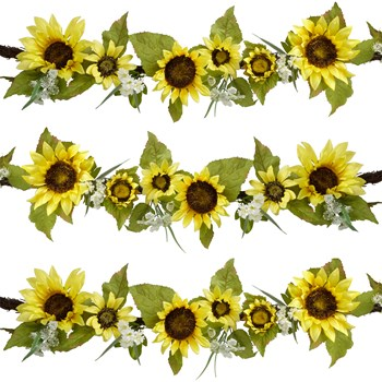 Sunflower garland clipart clip library download 6' Yellow Sunflowers and White Daisies Garland clip library download