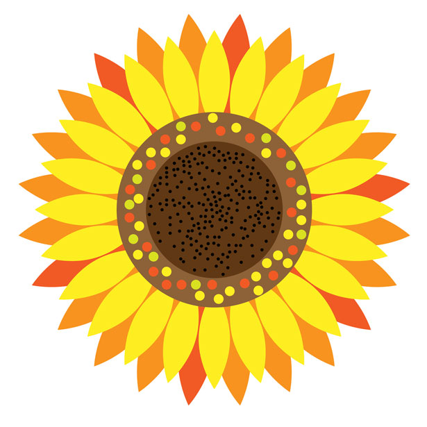 Sunflower stock clipart royalty free library Sunflower Floral Clipart Free Stock Photo - Public Domain ... royalty free library