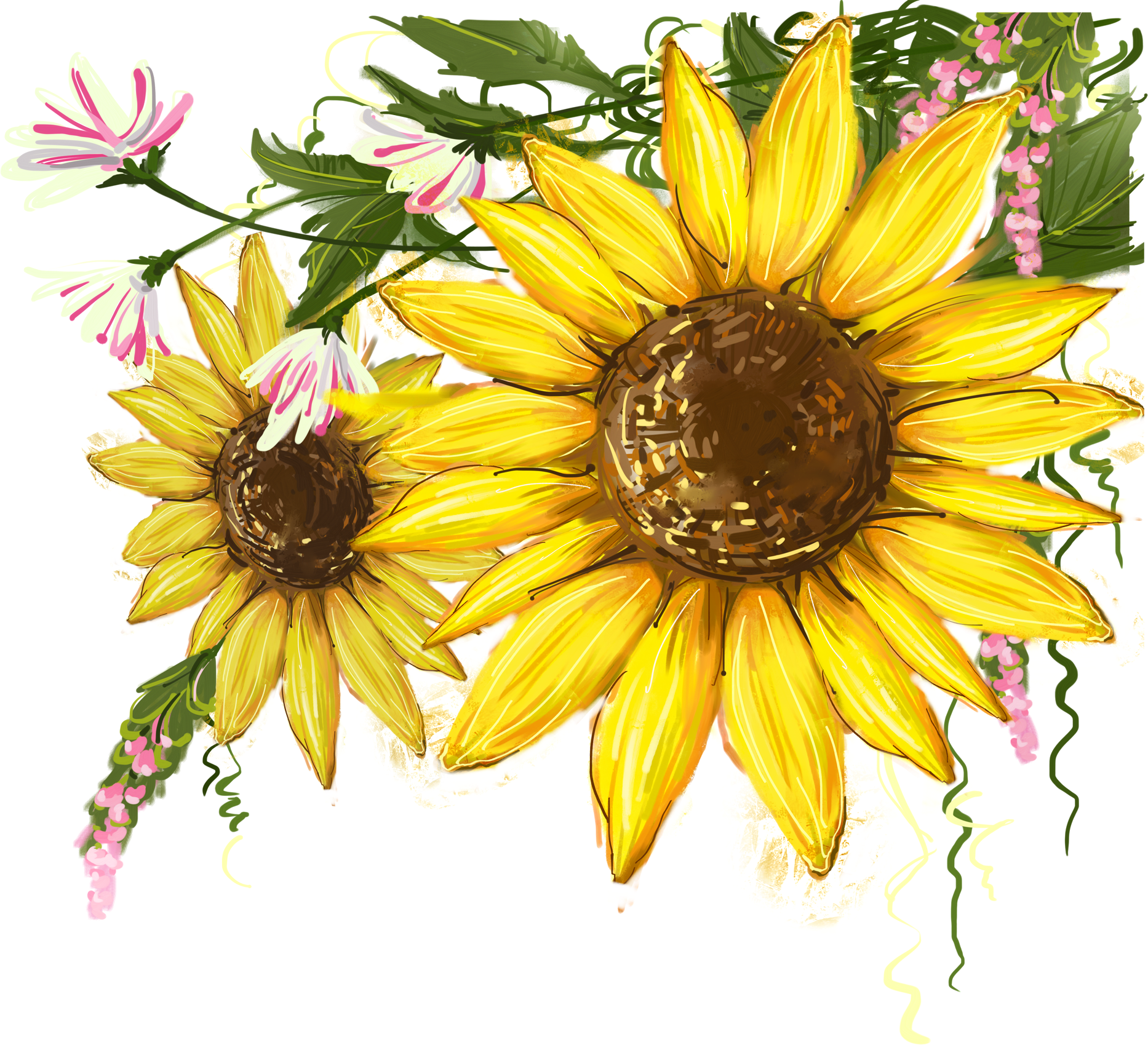 Sunflower watercolor clipart jpg royalty free library Common sunflower Clip art Image Watercolor   Sunflower PNG ... jpg royalty free library