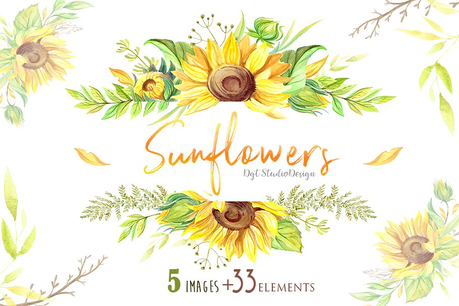 Sunflower Eucalyptus Bouquet