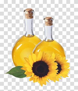 Sunflower wine decanter clipart png black and white Olive oil Sunflower oil Bottle, A bottle of oil transparent ... png black and white