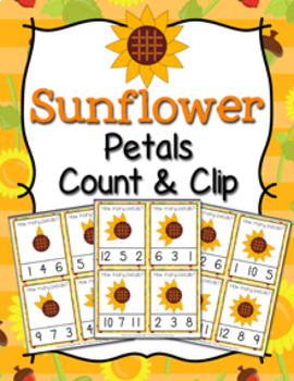 Sunflower with 10 petals clipart counting petals clip freeuse stock Sunflower Petals Worksheets & Teaching Resources | TpT clip freeuse stock