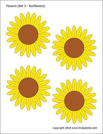 Sunflower with 10 petals clipart counting petals picture library library Flowers | Free Printable Templates & Coloring Pages ... picture library library