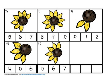 Sunflower with 10 petals clipart counting petals svg black and white Clip It Counting Sunflower Petals to 10 svg black and white