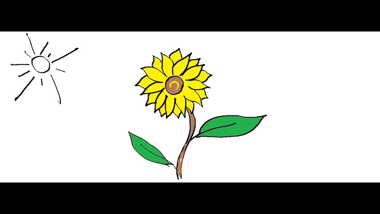 Sunflower with 10 petals clipart counting petals jpg library library Easy Kids Drawing Lessons :How to Draw a flower- Sunflower easy step by  step - FOR KIDS jpg library library