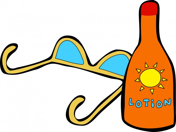 Tanning oil clipart
