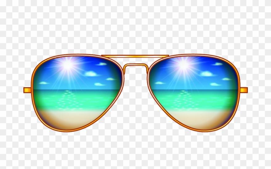 Sunglasses and sunscreen clipart clip royalty free stock Creative Sunglasses Aviator Illustration Sunscreen - Sun ... clip royalty free stock