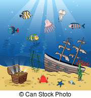 Sunk clipart graphic black and white download Sunken treasure Clipart Vector Graphics. 338 Sunken treasure ... graphic black and white download