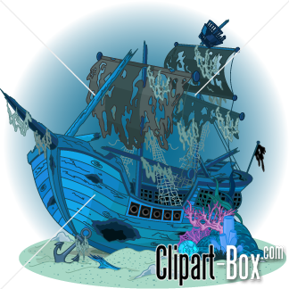 Vector clipart sunken ship picture royalty free stock CLIPART SUNKEN PIRATE SHIP | environment - water | Pirate ... picture royalty free stock