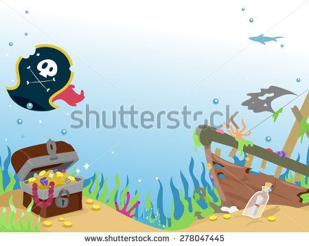 Sunken pirate ship clipart clipart library library Image result for sunken pirate ship clipart | Book | Under ... clipart library library