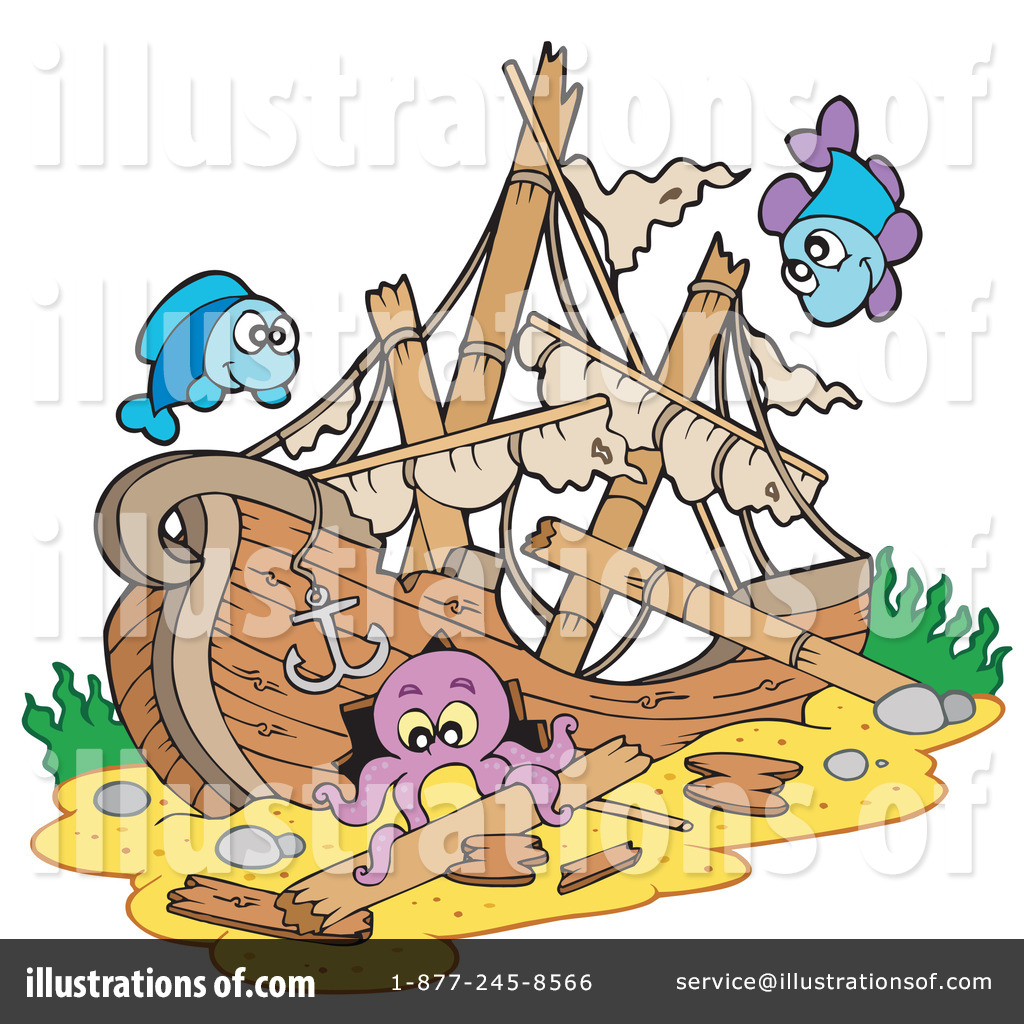 Sunken treasure clipart picture free download Sunken Ship Clipart #214240 - Illustration by visekart picture free download