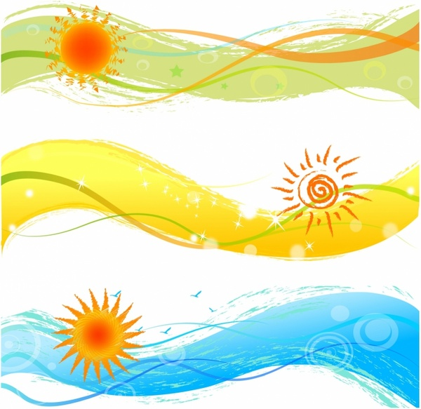 Clipart summerbanner image transparent download Summer banners with sun Free vector in Adobe Illustrator ai ... image transparent download