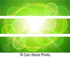 Sunny banners clipart jpg free download Green fresh sunny banners EPS Clip Art   csp6353607 jpg free download