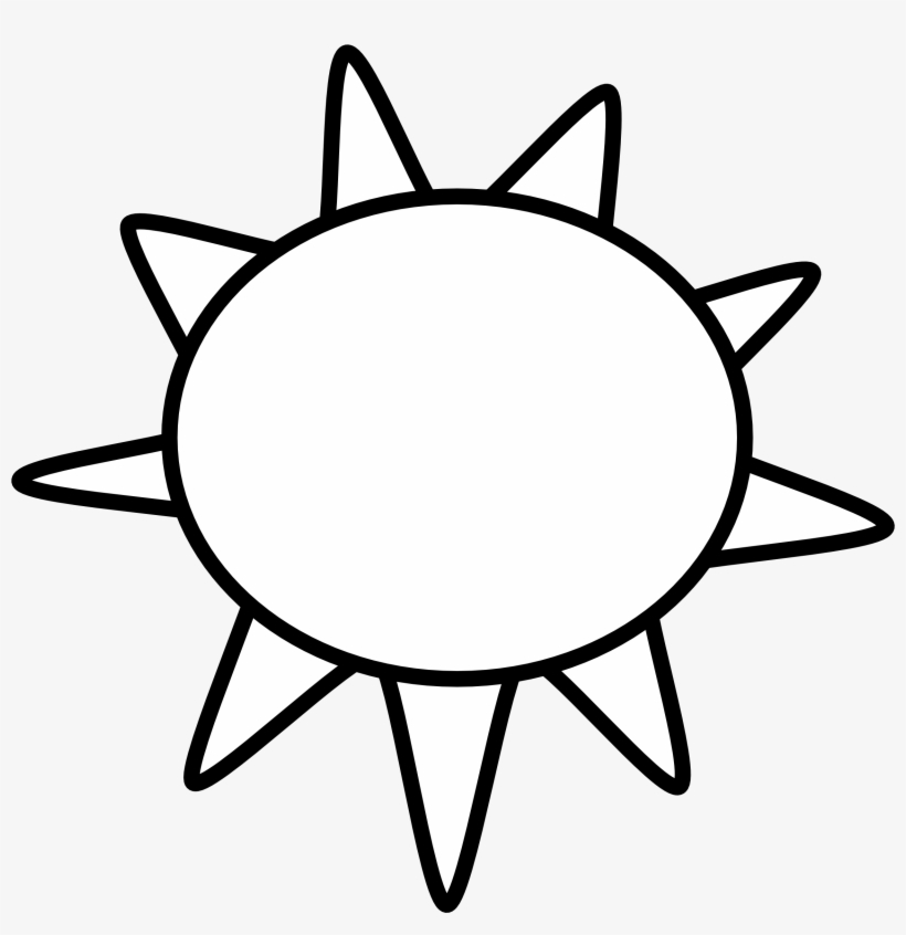 Sunny clipart black and white png library download Sun Clip Art Black And White Sun Outline Black White - Sunny ... png library download