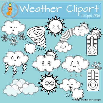 Sunny cloudy weather clipart clip freeuse stock Weather Clipart Sunny Snow Cloudy Windy Rain Tornado Temperature clip freeuse stock