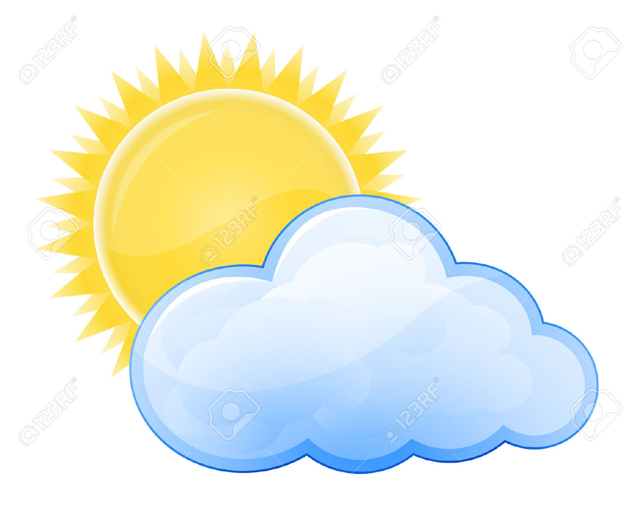 Sunny cloudy weather clipart clip art black and white download Cloudy Weather Clipart | Free download best Cloudy Weather ... clip art black and white download